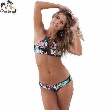 bikini swimwear  sexy bathing suit swimsuit bikini set brazilian Women Swimsuit swimming suit Halter high neck bikinI female