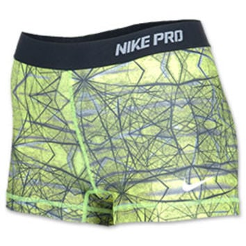 Women's Nike 2.5 Inch Pro Hypercool Compression Printed Shorts