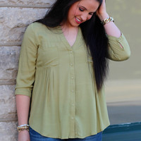 Summer Stroll Blouse {Sage}