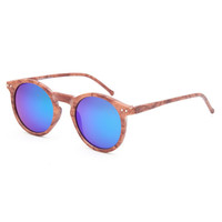 Blue Crown Montreal Birch Round Sunglasses Wood One Size For Women 26377546101