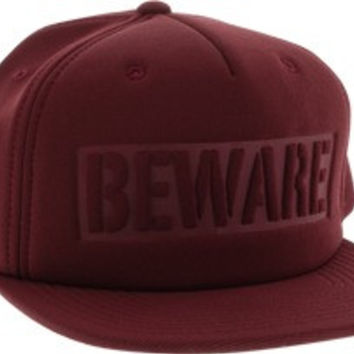 Grizzly Beware Hat Adjustable Burgundy
