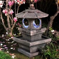 Bond Mikio Lighted Garden Outdoor Fountain | www.hayneedle.com