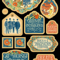 """Graphic 45 """"World's Fair Collection"""" Chipboard 2"""