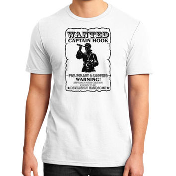 WANTED CAPTAIN HOOK District T-Shirt (on man)