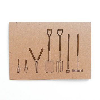 garden tools card (100% recycled)