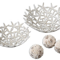 Uttermost Starfish Decorative Bowls W/ Spheres S/5 - 19557