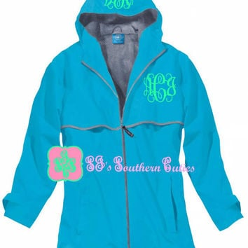 Monogrammed WAVE Rain Jacket , Rain Jacket with FREE Monogramming