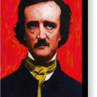 Quoth The Raven Nevermore - Edgar Allan Poe - Painterly Canvas Print