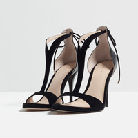 HIGH HEEL STRAPPY SANDALS - Heeled sandals-SHOES-WOMAN | ZARA United Kingdom