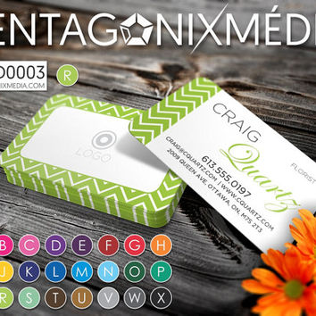 MOD0003 | Business cards / Cards with geometric pattern | Pentagonixmedia.com