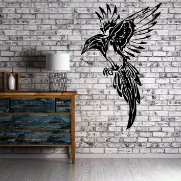 Mocking Bird Flight Tribal Decor Wall MURAL Vinyl Art Sticker Unique Gift M155