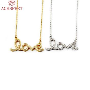 ACEBFEET 10pcs Fashion Wedding Gift Letter Pendant Love Word Charm Necklace 2017 Women Choker Boho Jewelry Gold Gargantilha