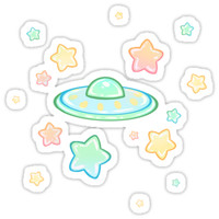 'Cute UFO' Sticker by Hektious