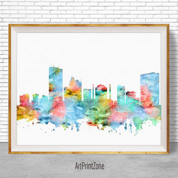 Toledo Ohio, Toledo Print, Toledo Skyline, City Wall Art, Office Decor, City Skyline Prints, Office Poster, Cityscape Art, ArtPrintZone