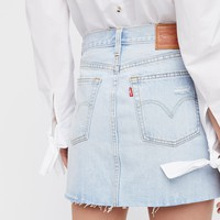 Levi's Deconstructed Denim Skirt