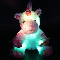 Luminous Stuffed Unicorn - Plush Toy with Colorful LED Night Light