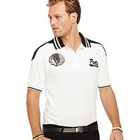 Polo Ralph Lauren Big & Tall Custom-Fit Headdress Polo Shirt - White/B