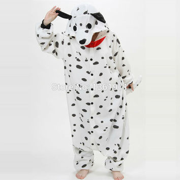 Cheap DHL Dalmatian Pajamas Dog Kgurumis Onesuit For Adults and Animal Footed Mens Christmas Pajamas For Women Sleepwear KID