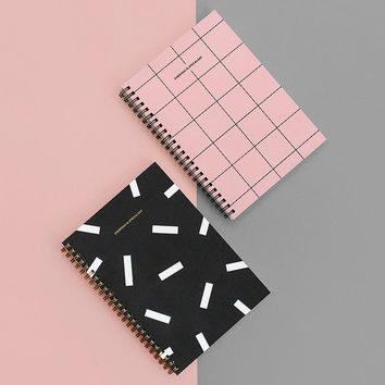Pocket spiral lined and grid notebook