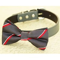 Charcoal and Red dog bow tie, Pet Wedding, Dog Lovers, Charcoal wedding