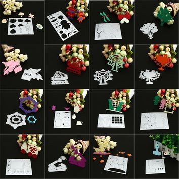 Metal cutting dies new 2017 Flower/Balloon/Cute Animal Heart Metal Cutting Dies Stencils DIY Scrapbooking Album Paper Craft !