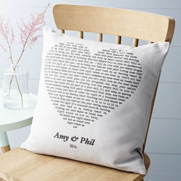 Personalised Song Cushion Cover