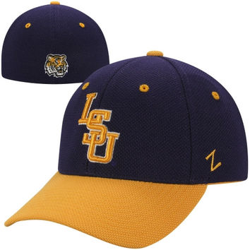 Zephyr LSU Tigers Pursuit Two-Tone Flex Hat - Purple/Gold