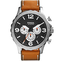 Fossil Men's Chronograph Stainless Steel Watch - Brown/Silver