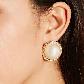 Faux Pearl Studs