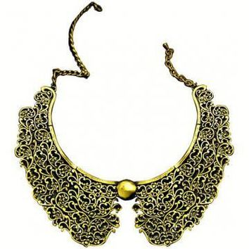 Old Fashion Metal Texture Necklace by Hallomall on Zibbet