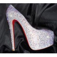 Christian Louboutin of the new super-platforms for SS 2010 $282,cheap christian louboutin wedges, discount louboutin wedges sale by low price with good quality