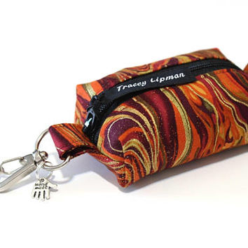 keyring coin purse - zipper change purse - lip balm keychain - lipstick case - keychain coin purse  - gift under 15 - cute coin purse