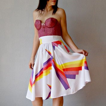 full GEOMETRIC skirt / high waisted circle by vintagemarmalade
