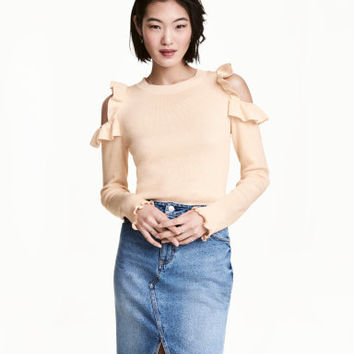 H&M Knit Open-shoulder Sweater $34.99
