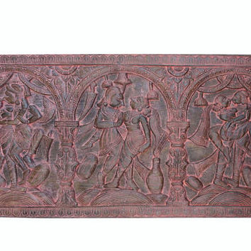 Vintage Headboard Handcarved Kamasutra Moment Of Ecstasy Shabby Chic Bohemian Eclectic Interior Decor