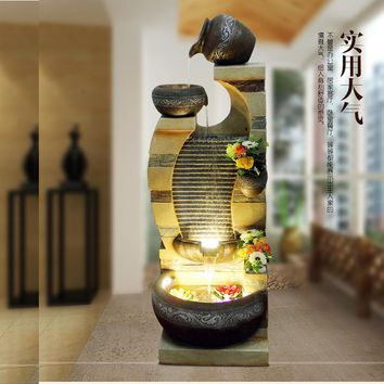 Hotel rockery water fountain in the office decoration company living room lucky ornament humidifier opening gift
