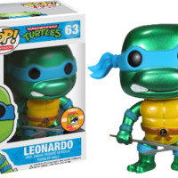 Teenage Mutant Ninja Turtles TMNT - Leonardo Metallic Pop! Vinyl Figure (SDCC 2013)