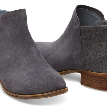 CASTLEROCK GREY SUEDE WOMEN'S DEIA BOOTIES