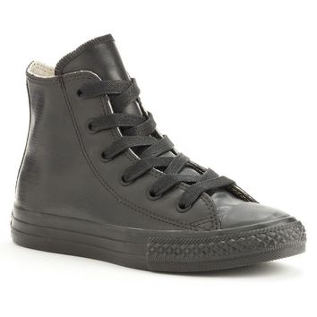 Converse All Star Rubber High-Top Sneakers for Boys (Black)