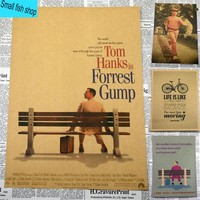 Forrest Gump Tom Hanks Self-Improvement Home Furnishing decoration Kraft Movie Poster Drawing core Wall stickers