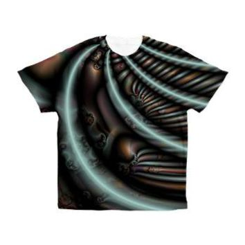 Fractal Seashells Men's All Over Print T-Shirt> Catch All Shirts for Men> Apparel For Men