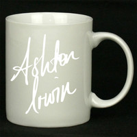 ashton irwin signature For Ceramic Mugs Coffee *