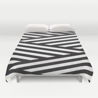 Stripes Duvet Cover by Dizzy Moments