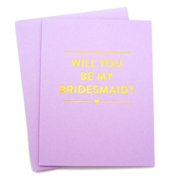 Bridesmaid Card