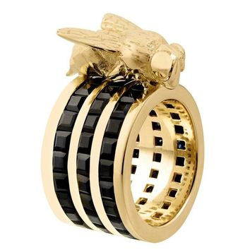 TPL Gold Black-Sapphire Bee Cocktail Ring