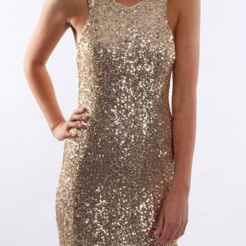 Night Life Dress Gold - Dresses - Shop by Product - Womens
