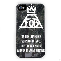Fall Out Boy Quotes Lyric Fob For iPhone 4 / 4S Case