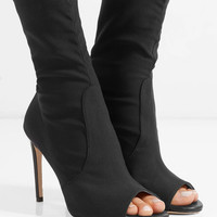Stuart Weitzman - Hugger stretch-knit sock boots