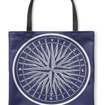 NAUTICAL COMPASS Tote Bag By Terri Ellis