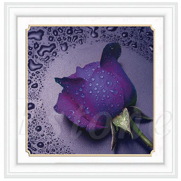 F85 Free Shipping 5D DIY Rose Flower Embroidery Diamond Painting Cross Stitch Kit Home Decor Craft